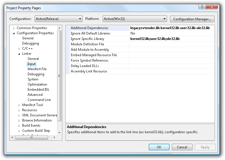 Click to view Legacy Extender 1.0.2.0 screenshot